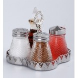 Salt,Pepper,Mustard And Oil Condiment Set KH-401A