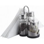 Salt,Pepper,Sugar With napkin holder Set KH-402
