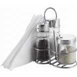 Condiment Sets With Metal Rack KH-405