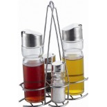 Cruet With Metal Rack KH-413