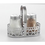 Glass Salt and Pepper Shakers With Stand KH-208B