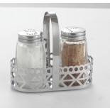 Salt and Pepper Shakers With S/S Basket KH-208C