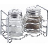 Salt And Pepper Shakers With Metal Rack KH-210