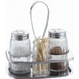Glass Salt,Pepper and Toothpick Shakers KH-318